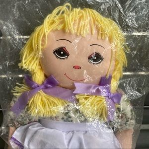 New Dollycraft Creations blonde rag large doll toy